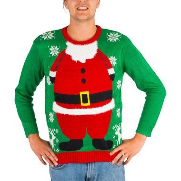 Kersttrui Heren Met Lampjes.Kersttrui Santa Met Verlichting M L Ledsneakers Nl