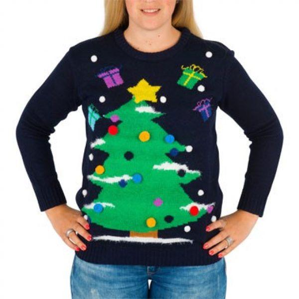 Kersttrui Dames Met Lampjes.Kersttrui Xmas Tree Met Verlichting Xl Xxl Ledsneakers Nl